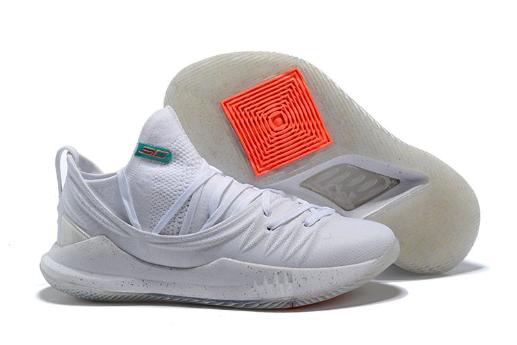 "b218378b6ea7 2018 New Under Armour Curry 5 Low ""Triple White"" Shoes For Sale ..."