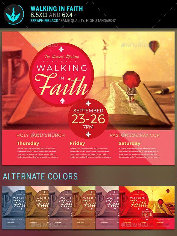 Walking In Faith Church Flyer Template Faith Church Flyer