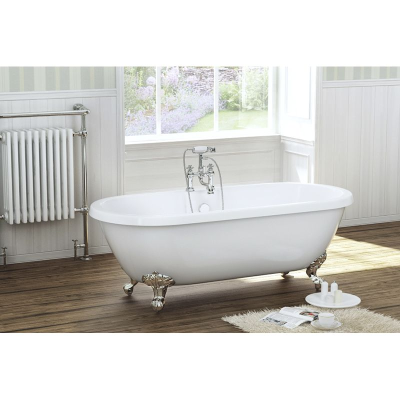 ROYAL SHAKESPEARE 1700 DOUBLE ENDED ROLL TOP BATH WITH