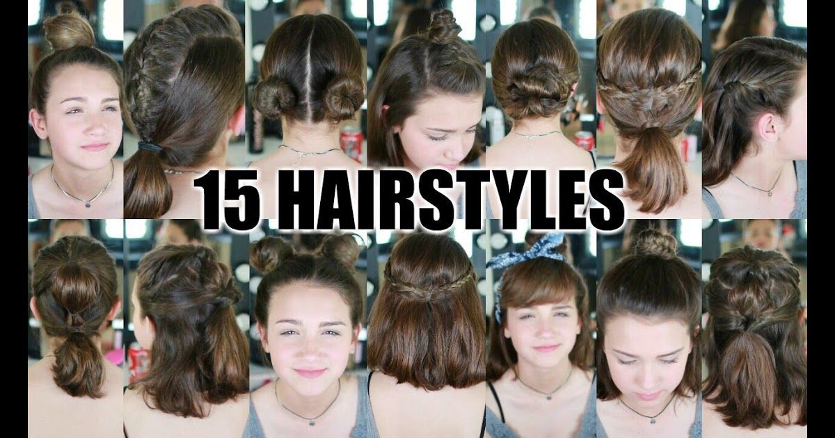 15 Heatless Hairstyles For Short Hair Back To School Top Kids