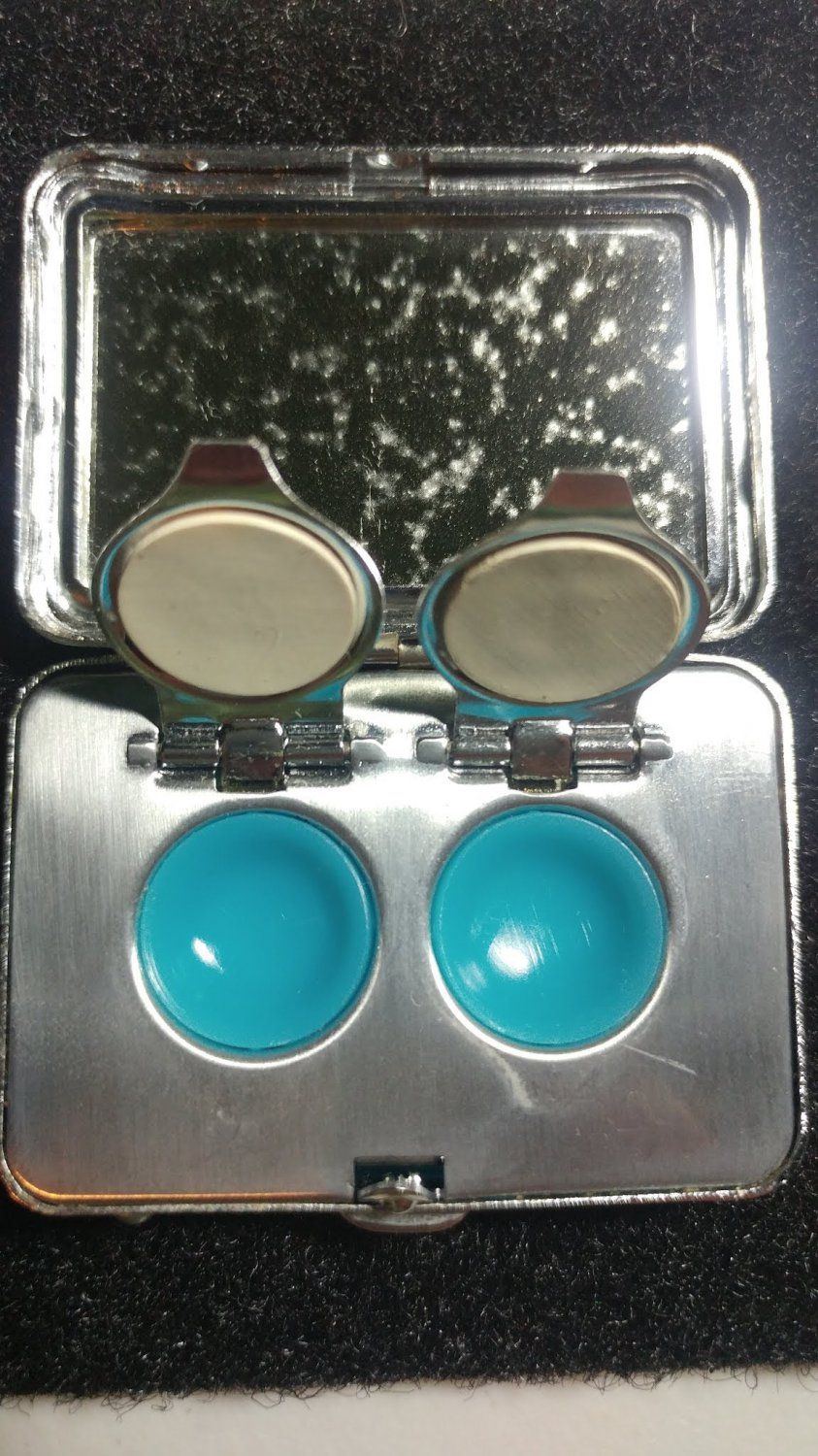 Rare Vintage 1967 Rainbow Opt Lab Stainless Steel Contact Lens Case Contact Lenses Case Contact Lenses Lens