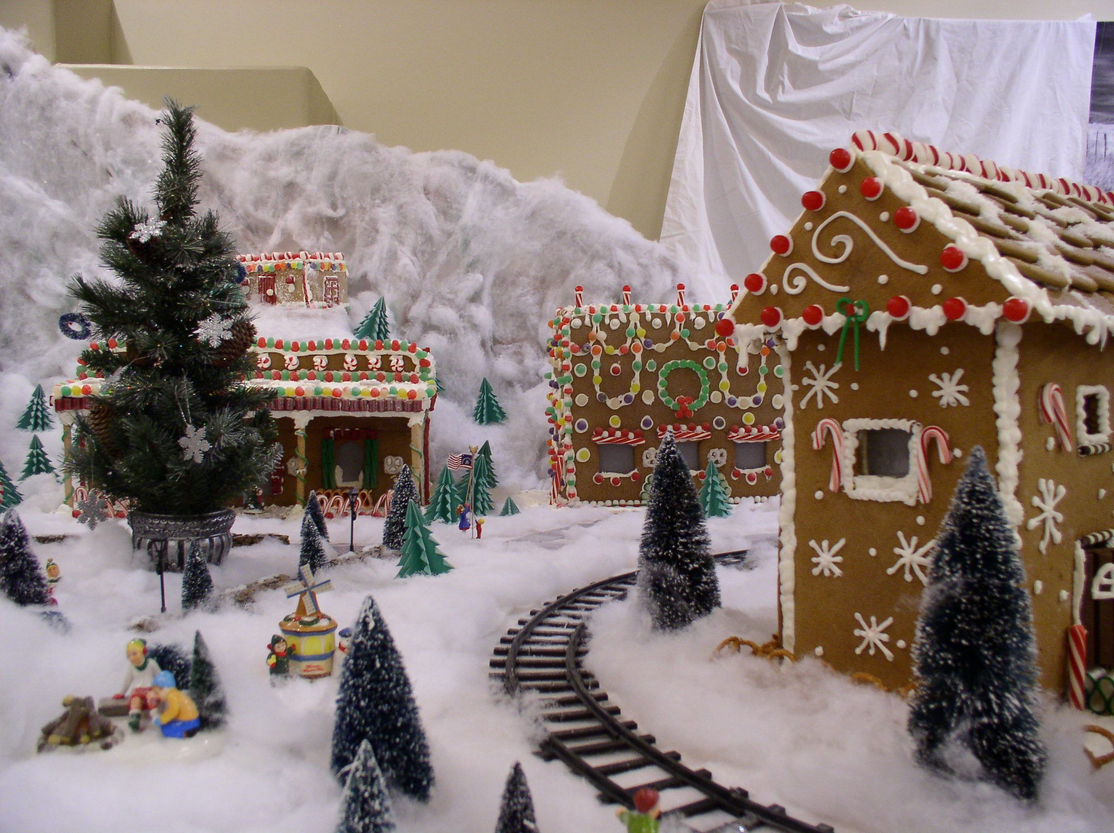 Gingerbread Village Created by the Culinary Team at ...
