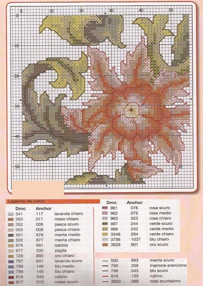 cross-stich pattern,flowers,  (3/1)