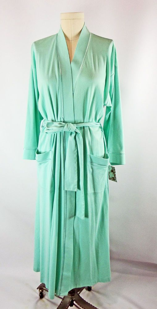 86d42823be Cottonista Pima Cotton Jersy Robe S New With Tags Aqua Blue Mothers Day   Cottonista  Robes