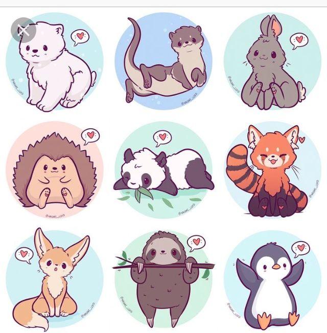 корейские рисунки животных легко и красиво многообразие