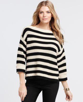 I never met a striped sweater I didn't like =]