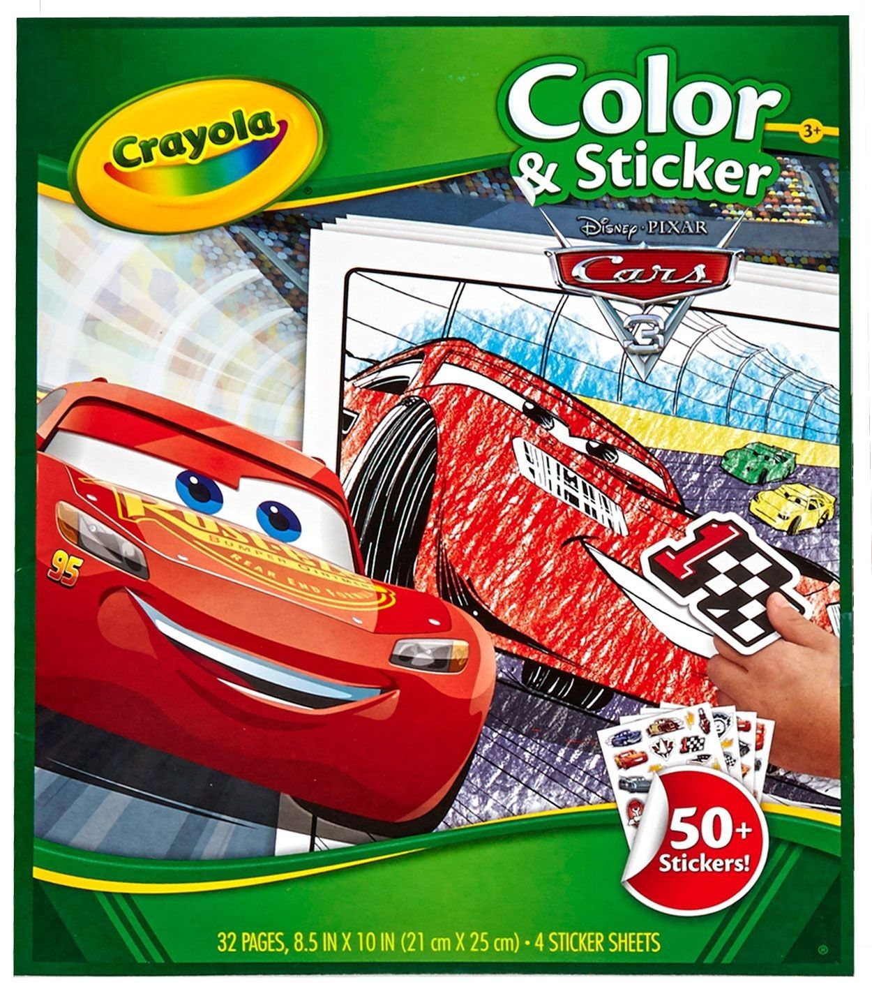 Beleef De Filmavonturen Van Bliksem Mcqueen Nogmaals Met Dit Mooie Kleur En Stickerboek Van Disney Cars 3 Zie Bliksem Mcqueen Disney Cars Stickers Kleurboek