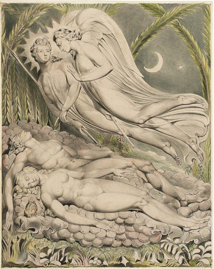 Illustration To Miltons Paradise Lost William Blake Symbolism