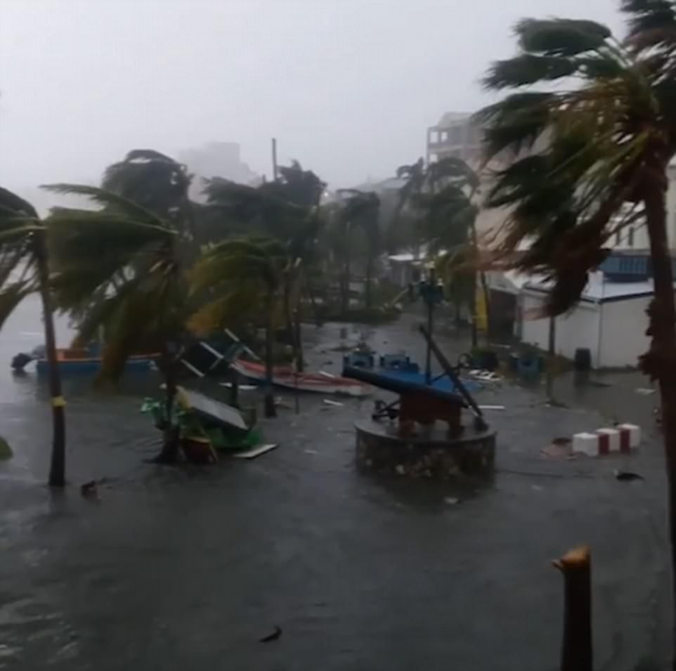 Hurricane Irma Slams Into Caribbean 185mph Winds Batter Saint Martin St Barts Island St Barts Flood Damage