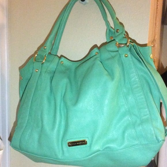 Steven madden purse Great condition, sea foam green color, size:large Steve Madden Bags
