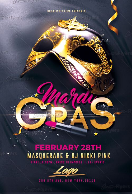Create Flyer That Stand Out Mardi Gras Flyer Psd Templates Design