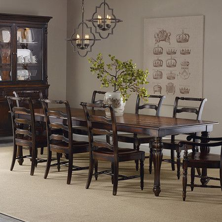 Gather friends and family around this timeless dining table, showcasing turned legs with fluted detailing and 2 extendable leaves.  ...