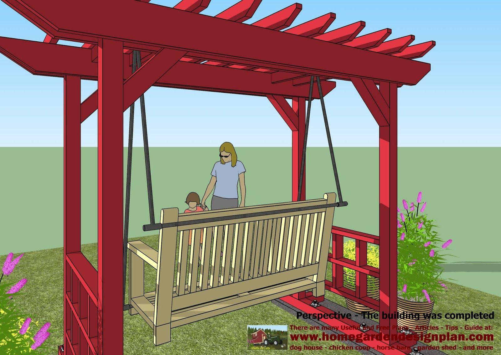 home garden plans: SW100 - Arbor Swing Plans - Swing ...