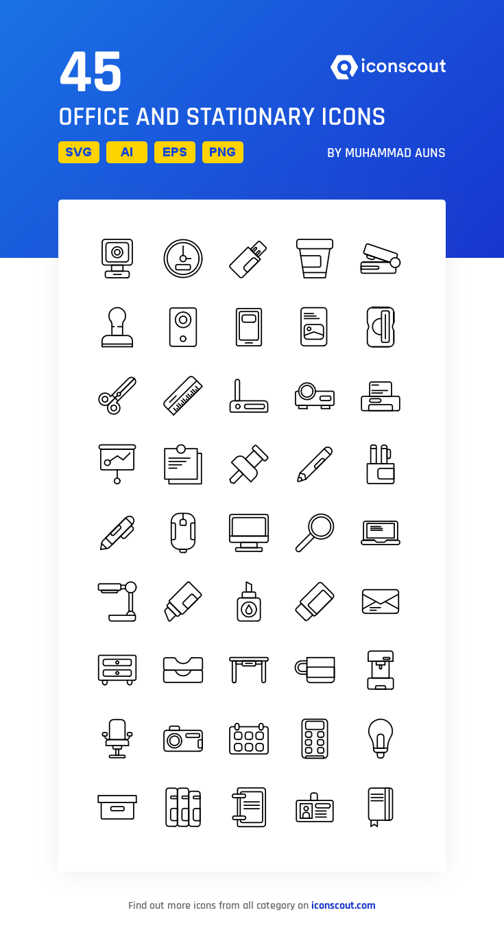 Download Download Office And Stationary Icon pack - Available in ...