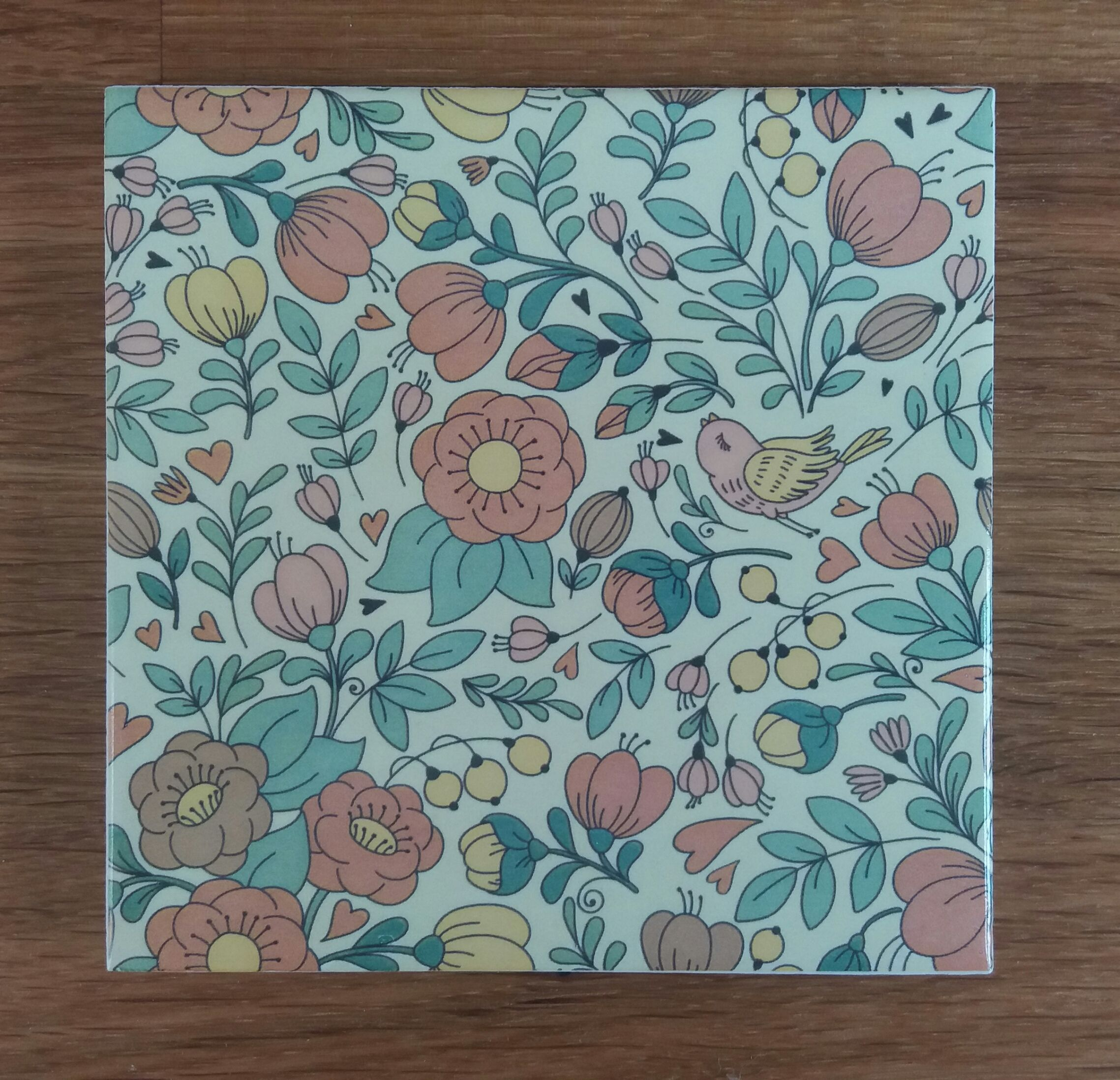 Mid century retro style patterned ceramic wall tile by Floral Tiles ...