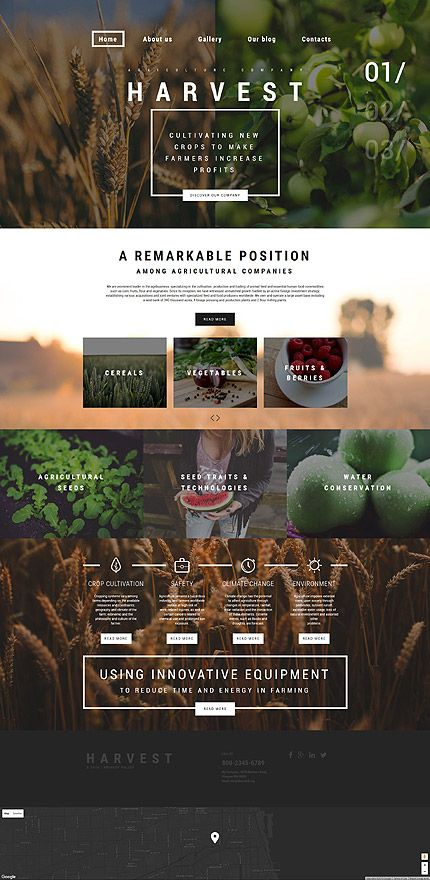Template - Agriculture Company para #Wordpress | Nutrition ...