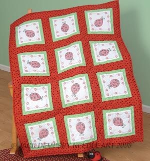 Four Petal Quilt Blocks Dimensions Stamped Cross Stitch Kit