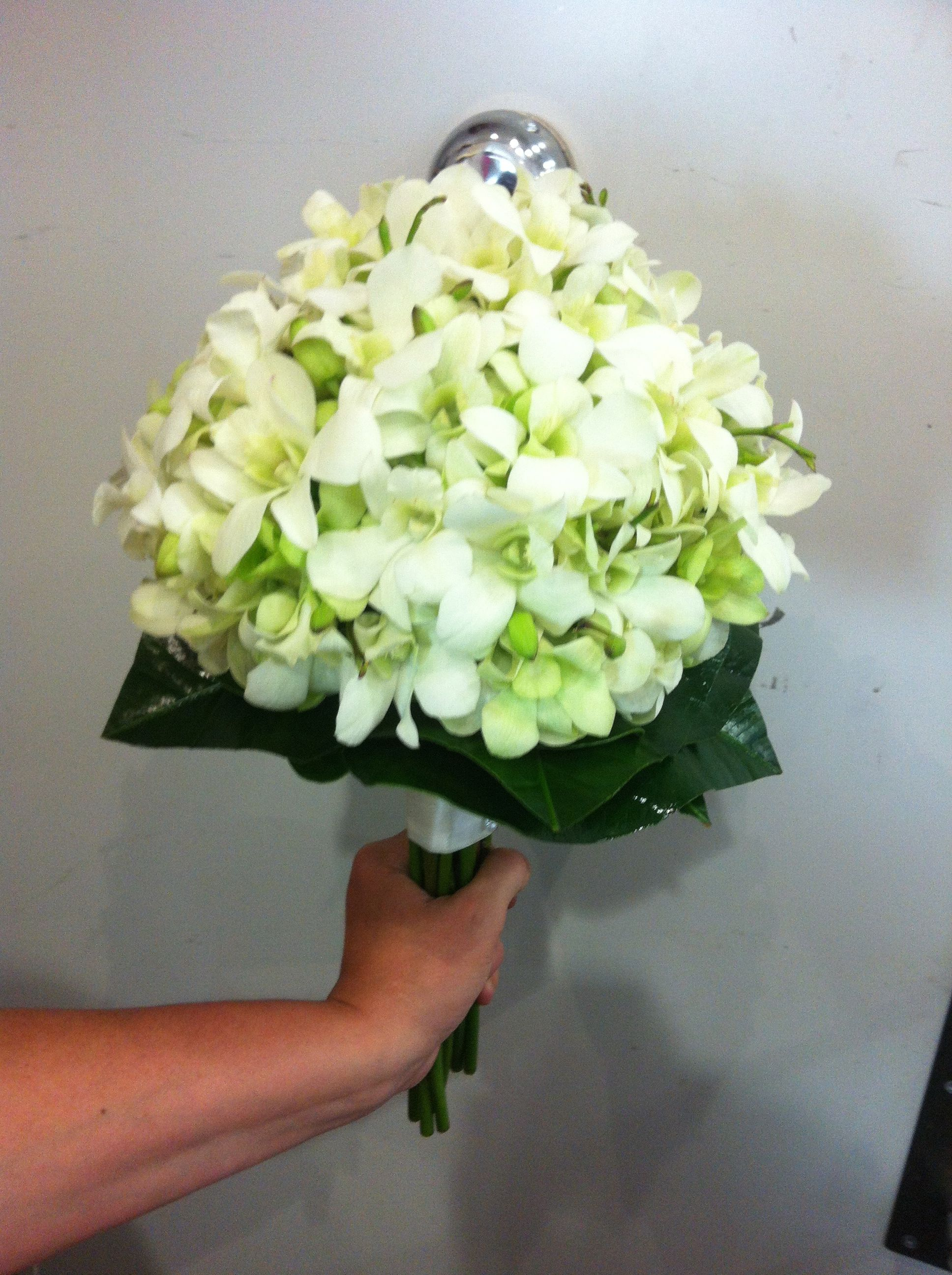 wedding bouquet singapore bridal bouquet of white singapore orchids bridal 8485