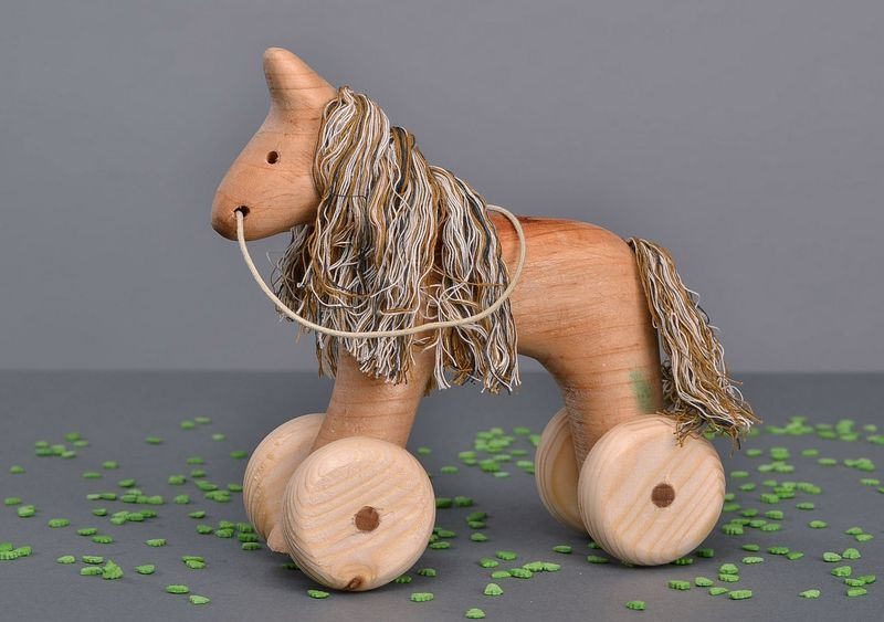 Wooden small horse from WoodenMetalGlassToys by DaWanda.com