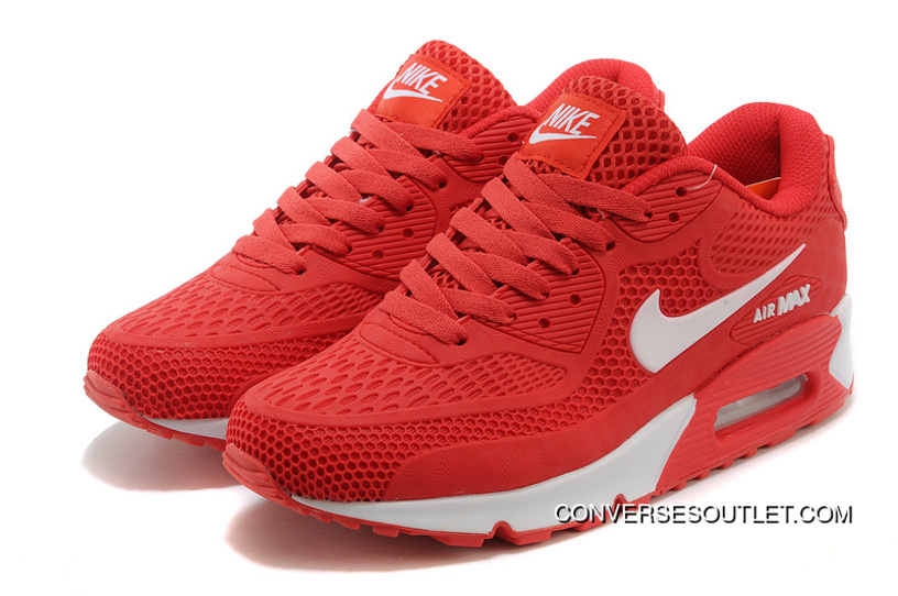 Nike Air Max 90 Essential Red White Men Women Super Deals ...