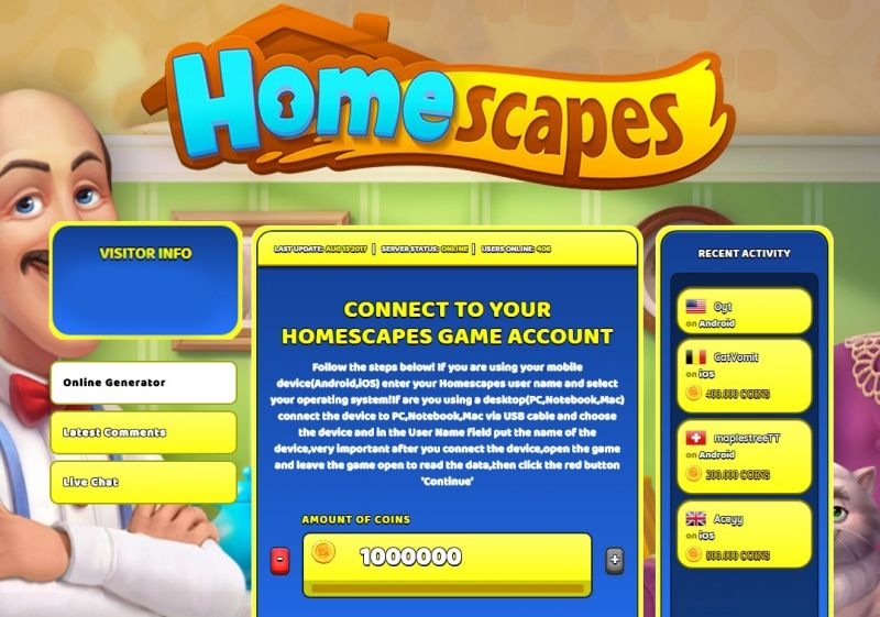 homescapes hack no human verification