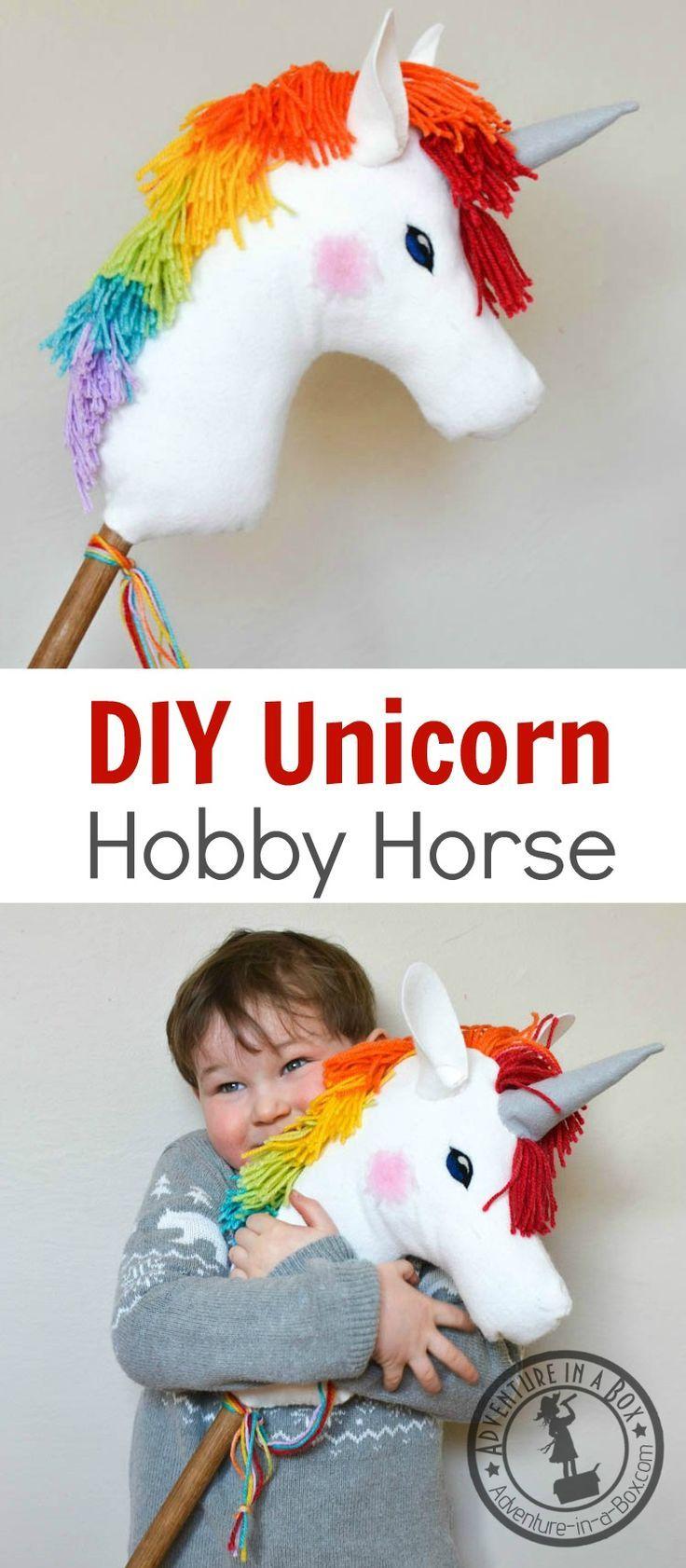 DIY Rainbow Unicorn Hobby Horse