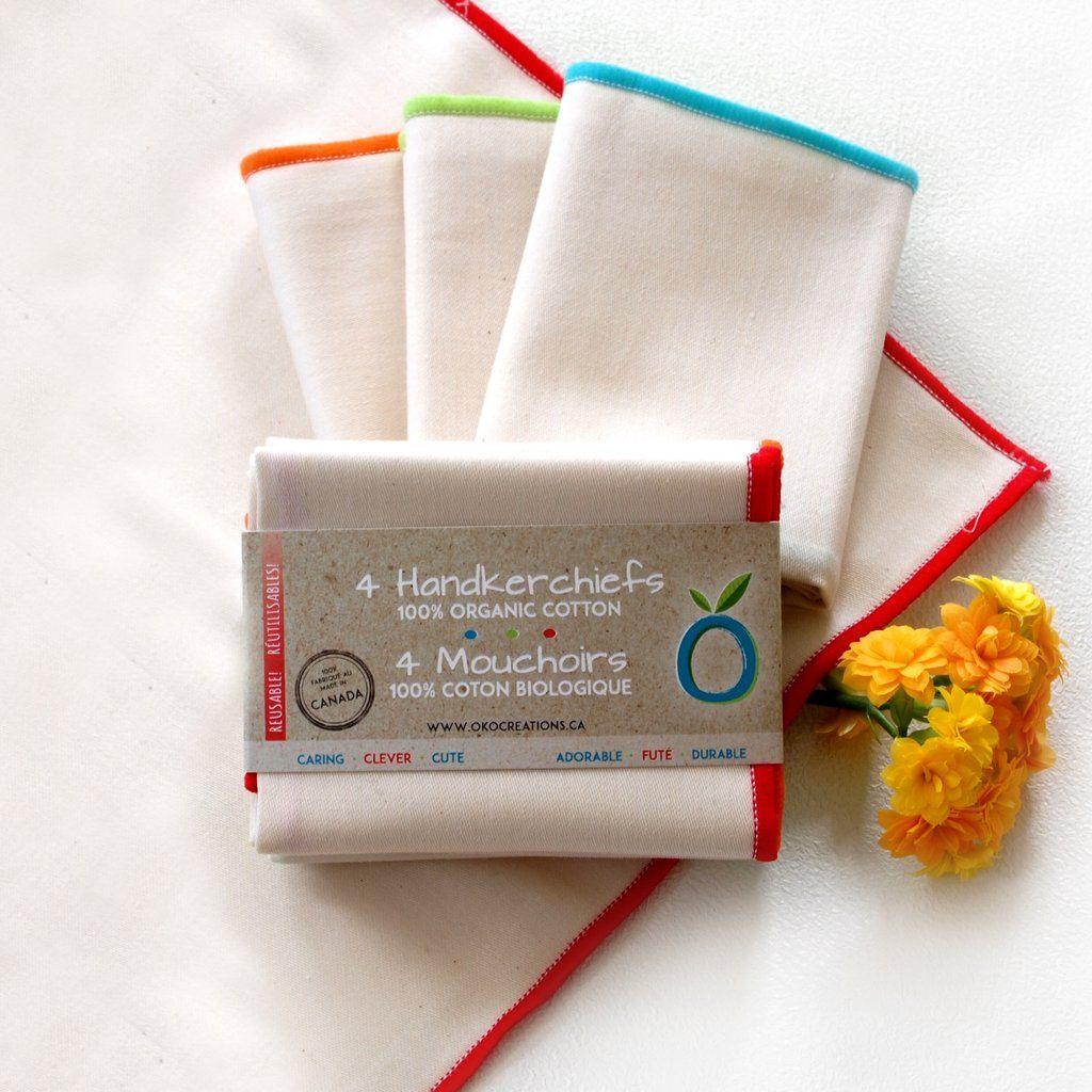 Reusable Handkerchiefs (Pack of 4) Handkerchief