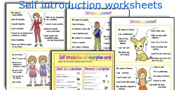 Self Introduction Worksheets  Exercise    Worksheets