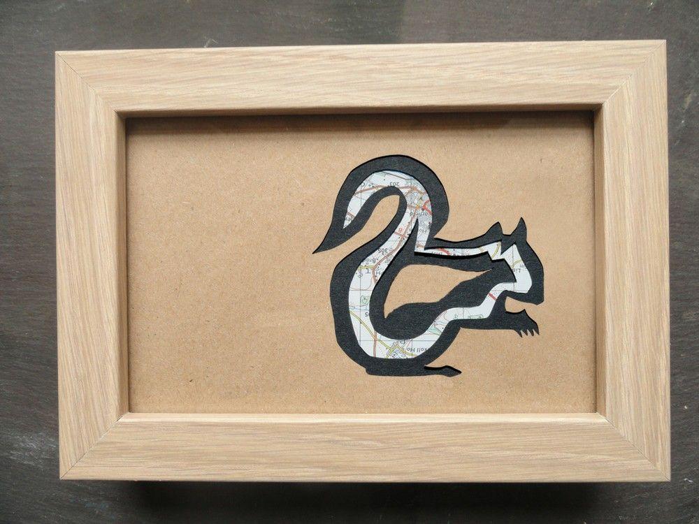 Framed Original Squirrel Paper-cut Artwork via The Red Corvid Art, £45.00. http://theredcorvidart.tictail.com/product/framed-original-squirrel-paper-cut-artwork-904187 ~ Click through for more info ~