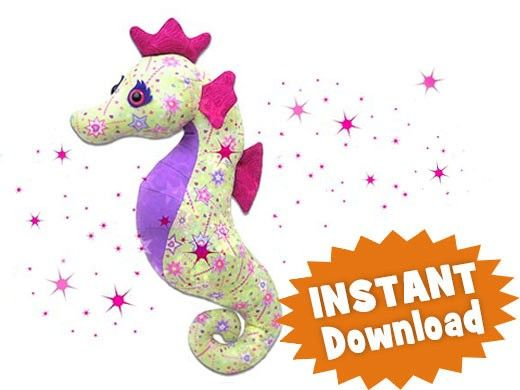 Sparkles Seahorse INSTANT DOWNLOAD Sewing Pattern PDF | Dolls and ...