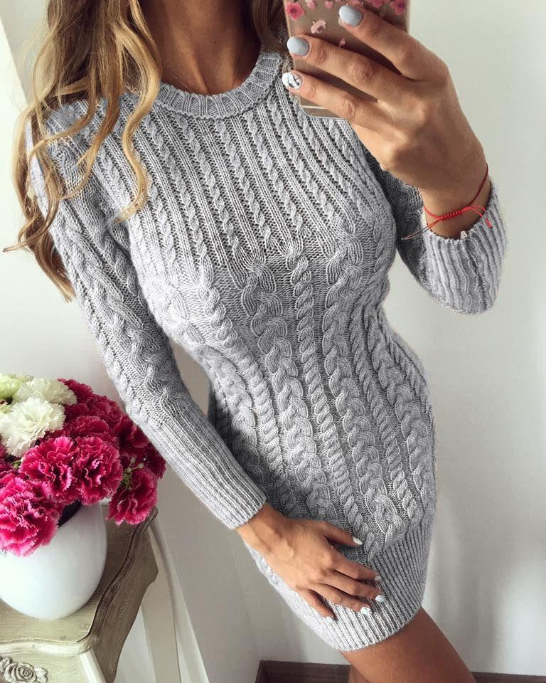 4f825f499f4502 Sexy Slim Bodycon Dress O neck Long Women Knit Sweater Dress, Long Sleeve Sweater  Dress
