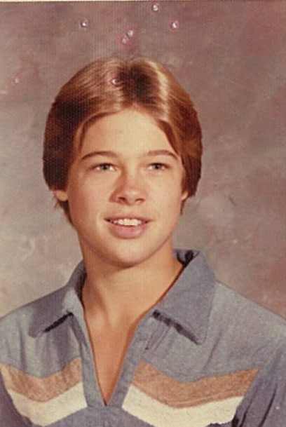 15 Famous Faces When They Were Younger Brad Pitt Brad Pitt Young Young Celebrities