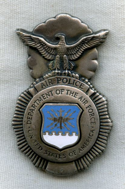Late 1950s Type 2 US Air Force Air Police Badge | Law Enforcement