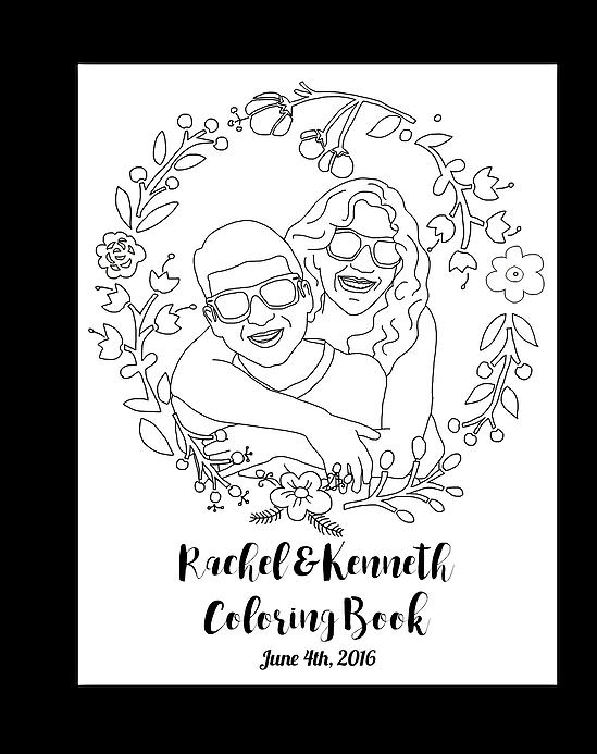 custom wedding coloring book   Wedding - Stationary ...