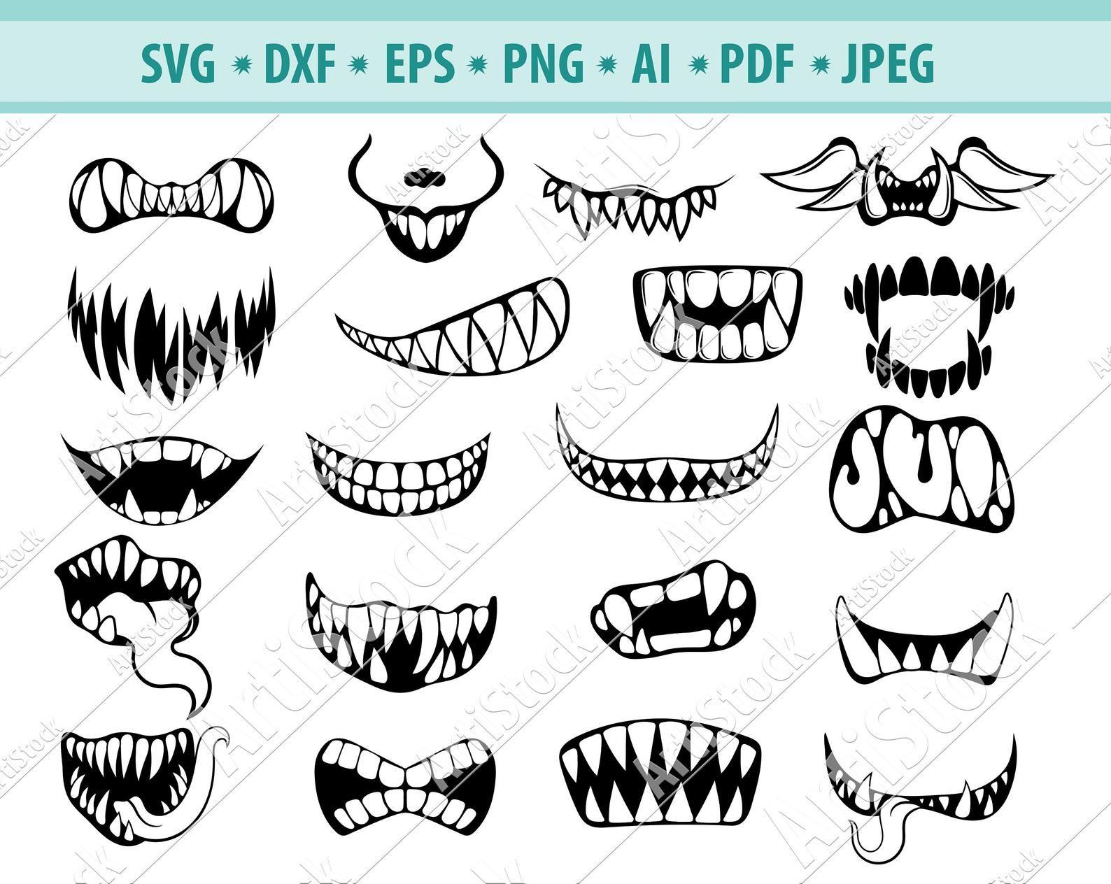 How To Draw Sharp Teeth And Have Them Make Sense A Tutorial Drawings Teeth Drawing Animal Drawings