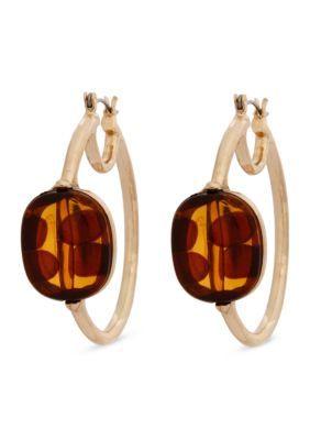 Erica Lyons  Gold-Tone Tortally Reinvented Hoop Earrings