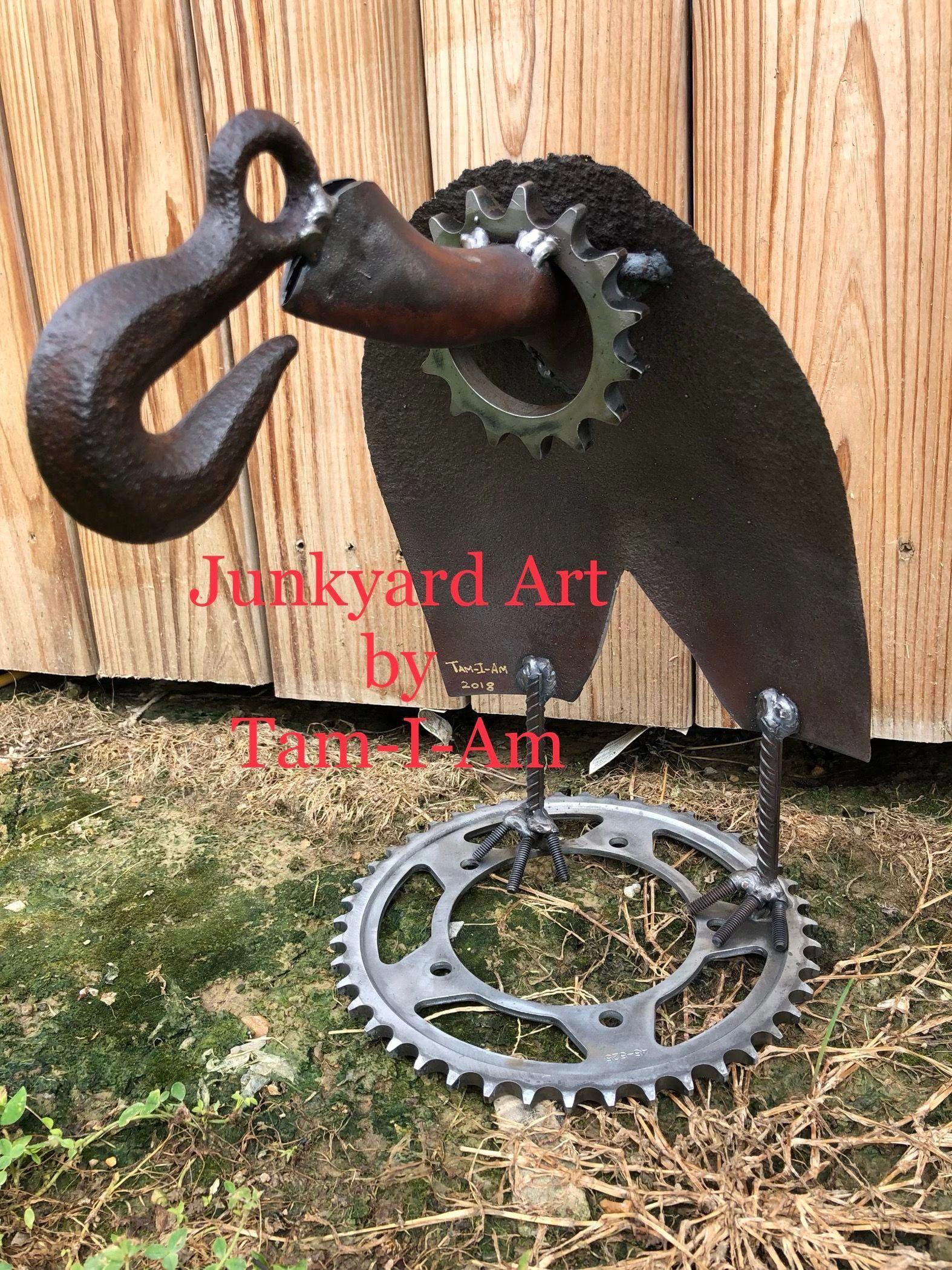 Easy Scrap Metal Art Scrapmetalart Scrap Metal Art Metal Art Junk Metal Art