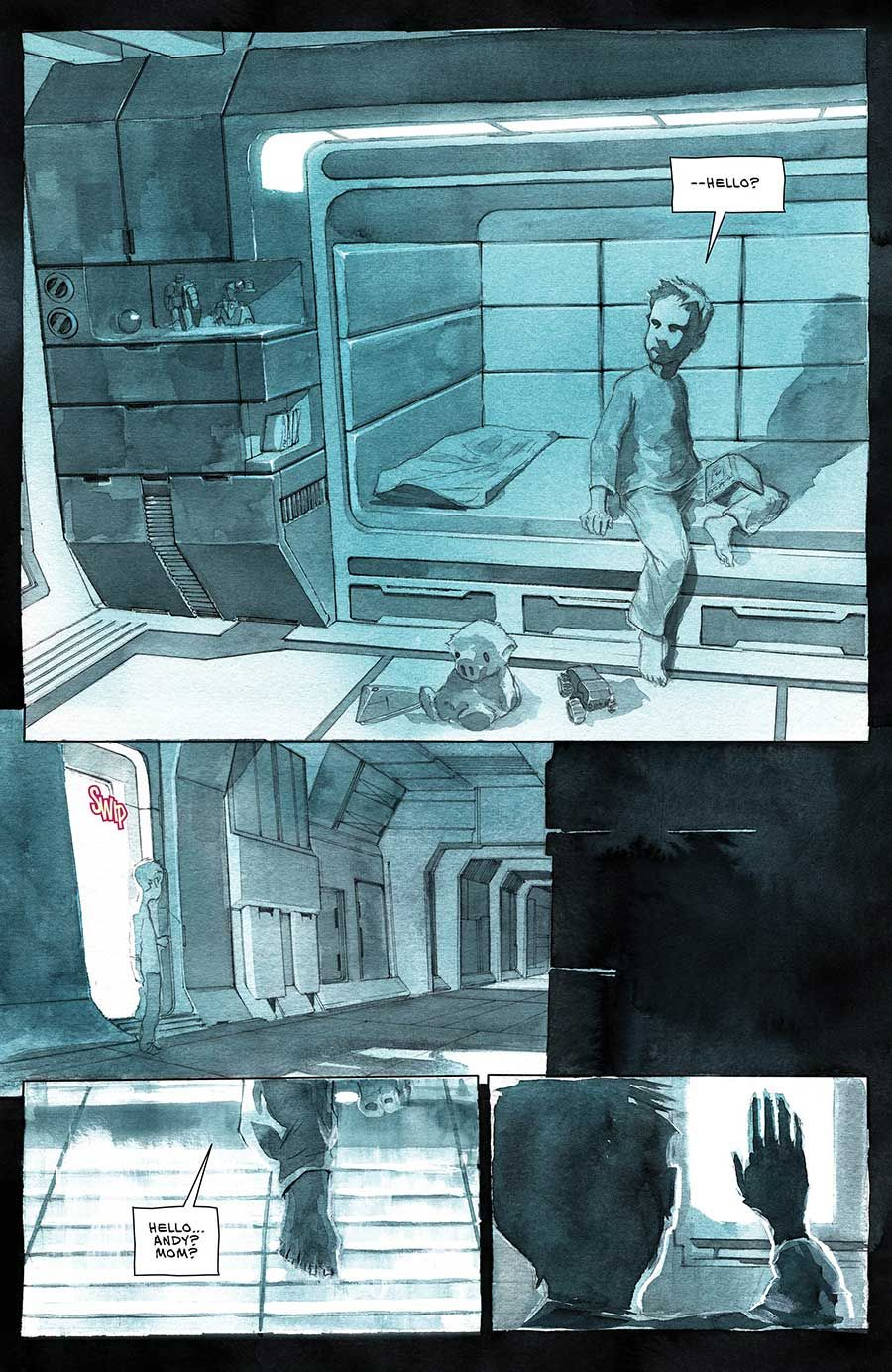 Exclusive preview: Jeff Lemire's Descender Volume 1: Tin Stars | Tin star,  Underwater welder, Abstract artwork