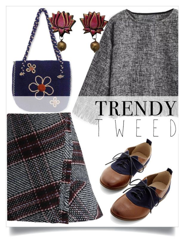 """""""tweedle-dee-dee"""" by collagette ❤ liked on Polyvore featuring moda, Restricted, NOVICA, Chicwish, women's clothing, women, female, woman, misses e juniors"""