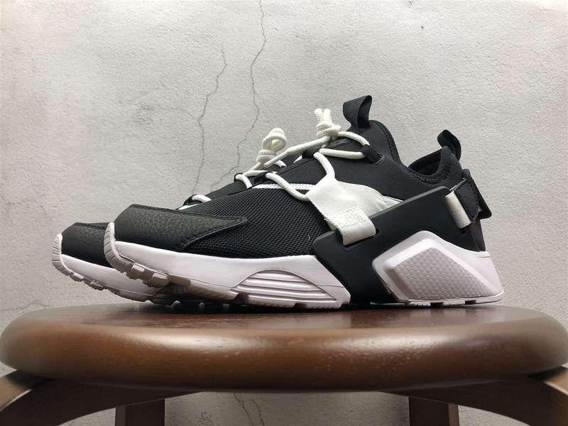 the latest 2deb2 ce331 2018 Official Unisex Uk New Nike Air Huarache City Low Black Noir White  blanc AH6804-002 Youth Big Boys Shoes