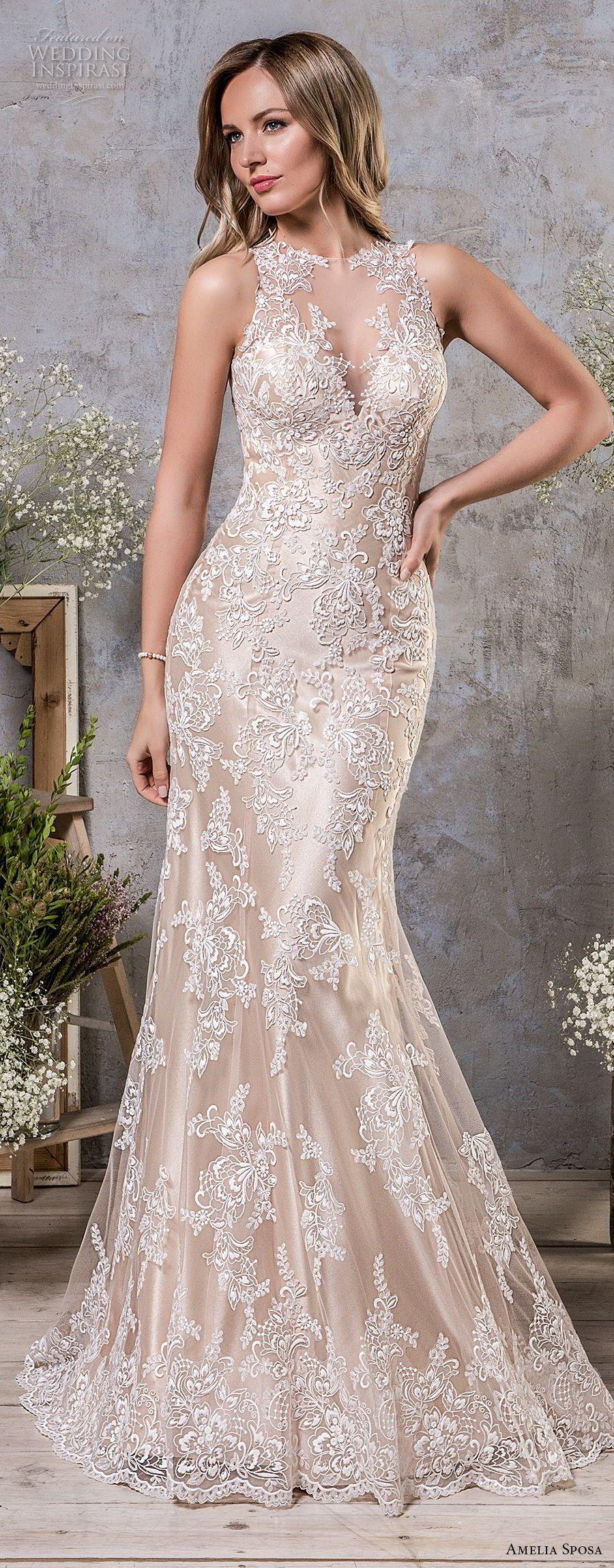 Amelia Sposa Fall 2018 Wedding Dresses | Pinterest | Amelia sposa ...