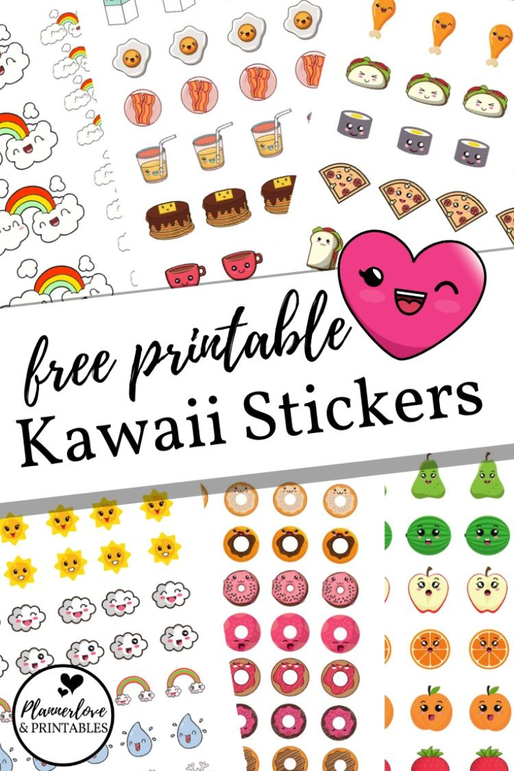 Free Printable And Cute Kawaii Stickers Decorate Your Planner Or