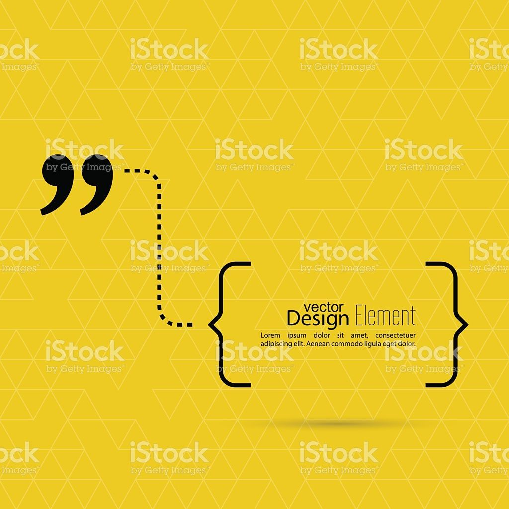 Vector abstract background with triangles.Quotation Mark