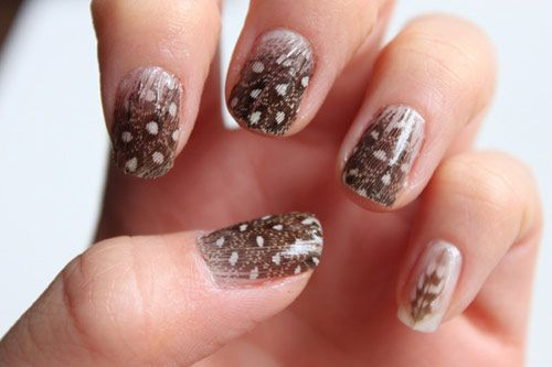 How To Do Nail Art At Home Feather Nail Art Feather Nails And