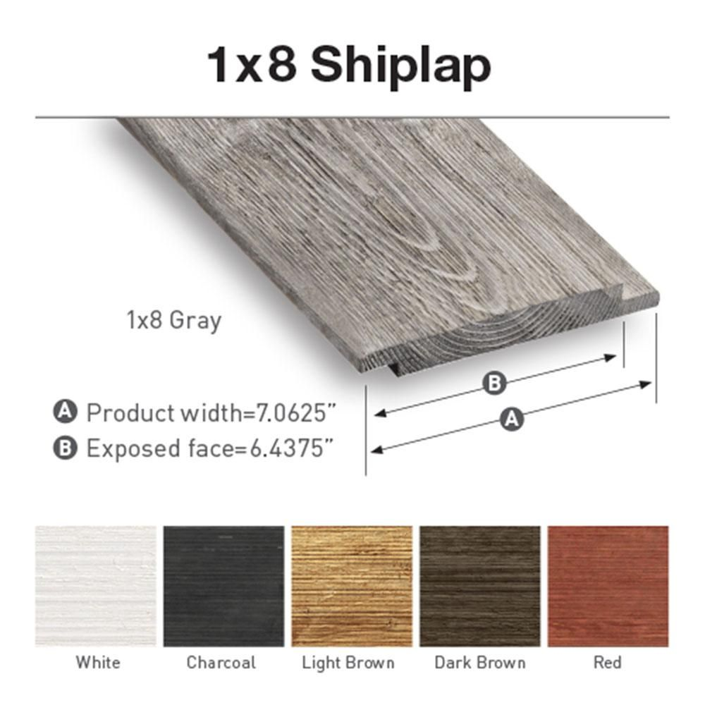 Ufp Edge 1 In X 8 In X 4 Ft Barn Wood Charcoal Shiplap Pine Board 6 Pack 326264 The Home Depot In 2020 Shiplap Barn Wood Wood Charcoal