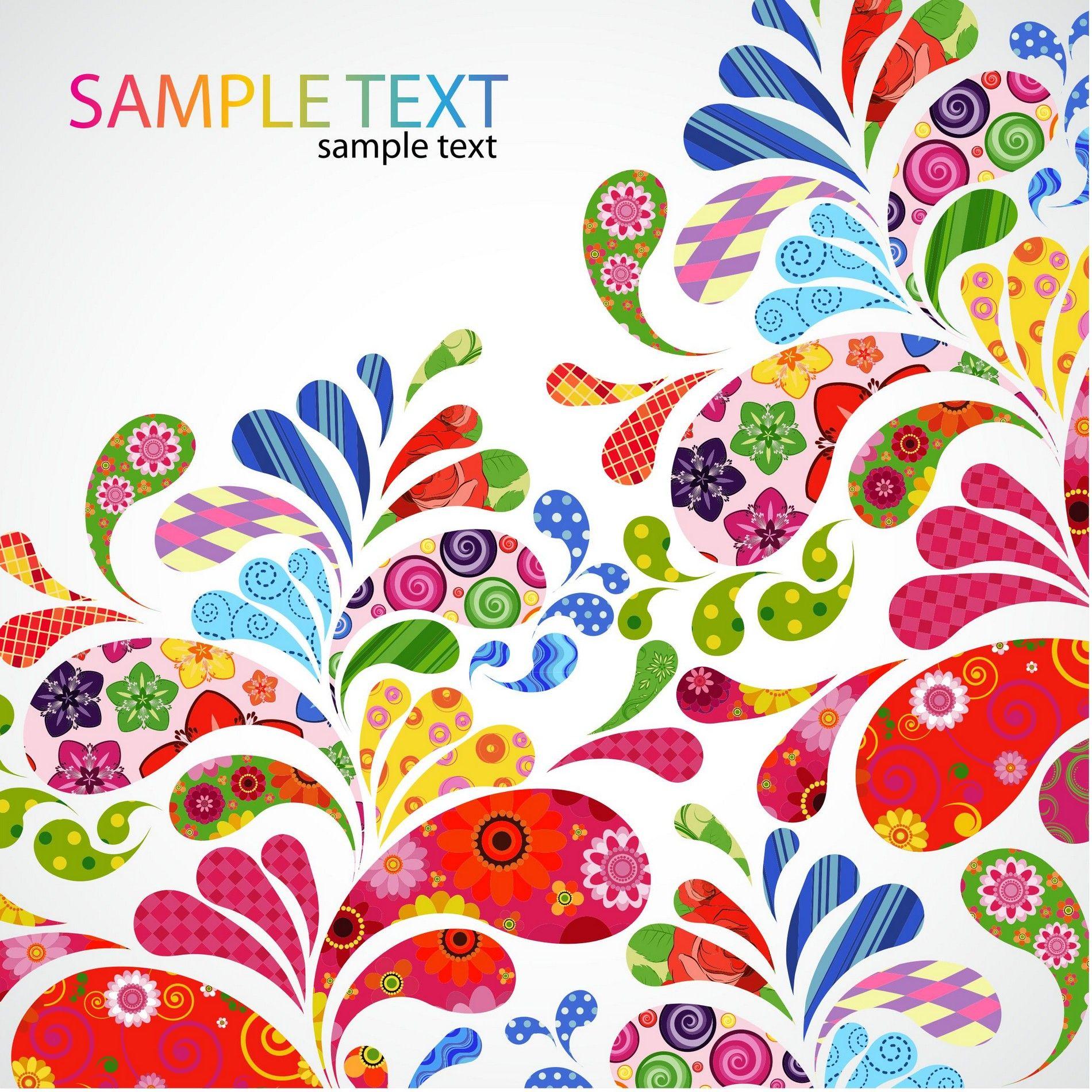 Free Design Patterns Colorful Floral Design Vector [EPS