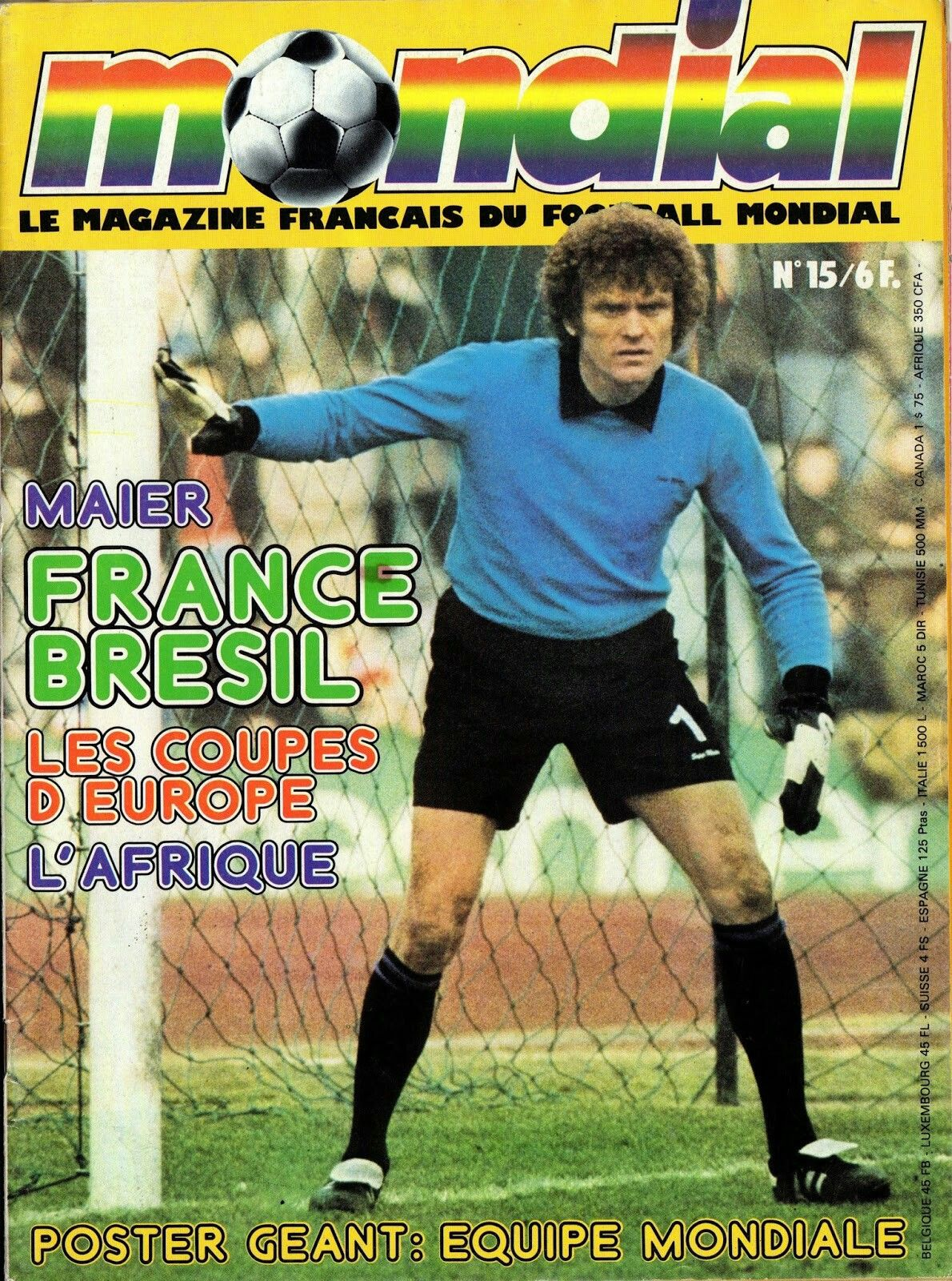 Mondial magazine in April 1978 featuring West Germany keeper Sepp