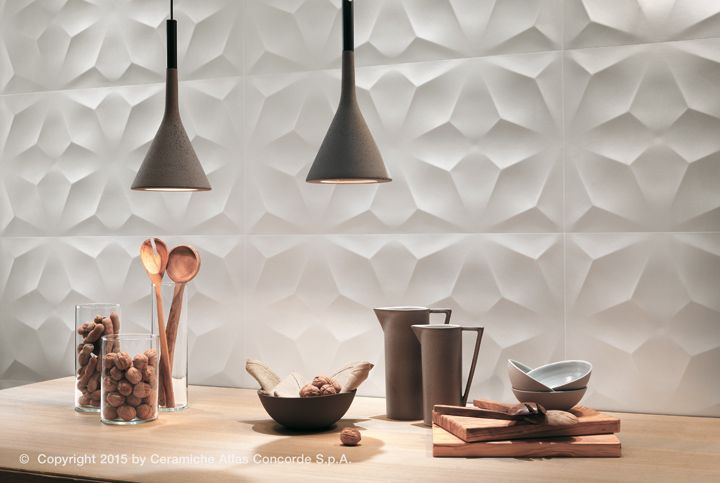 High Quality 3D Wall Design By Atlas Concorde: Three Dimensional Ceramic Surfaces