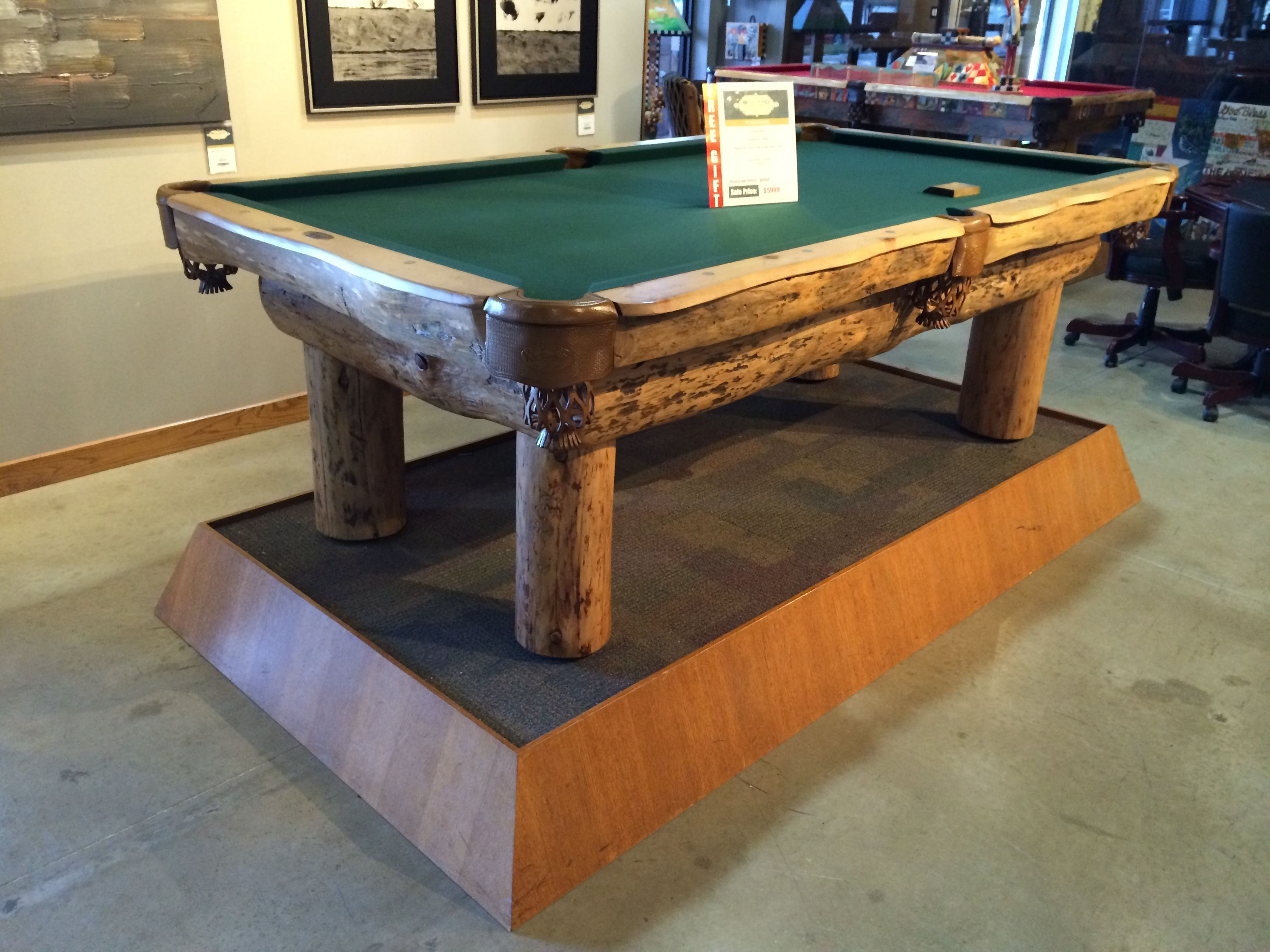 A Great Pool Table At Our Showroom Location Billiards Pool Table Room Furnishing Billiards