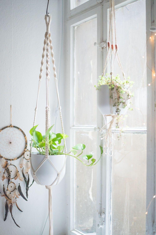 Easy Home-DIY: Macrame Plant Hanger Tutorial | Macrame plant hangers ...